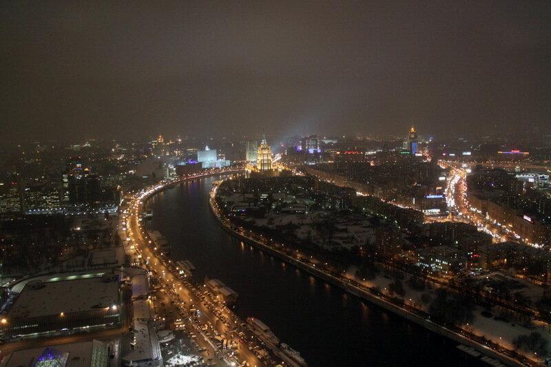 фото зимней ночной москвы с крыши того