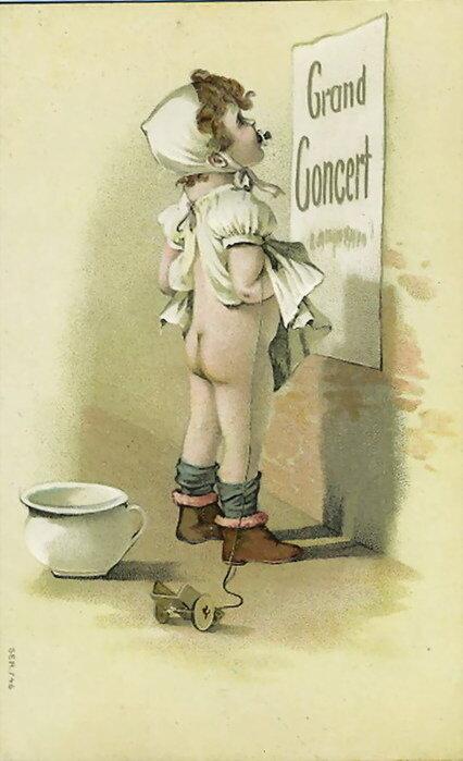 Для детей, открытки в туалете