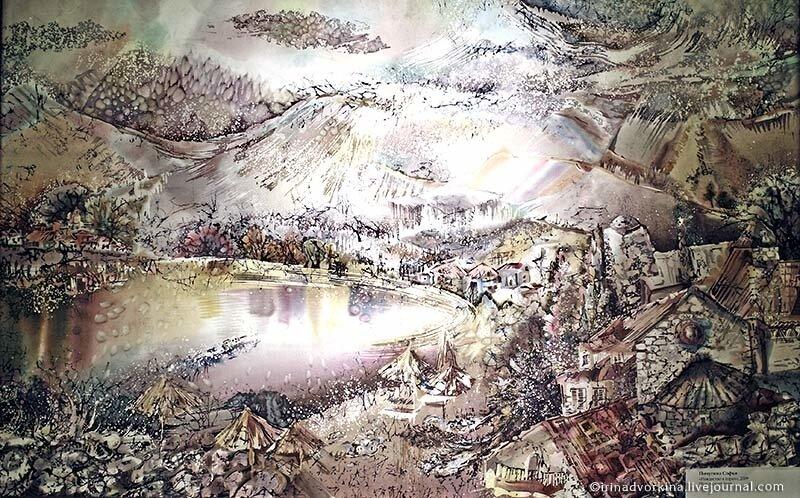 Пичугина Софья. «Рождество в горах». Батик