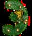 Алфавит из ёлок в большом разрешении (русский)