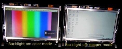 Технология от Pixel Qi, позволяющая на одном экране совместить два типа изображения