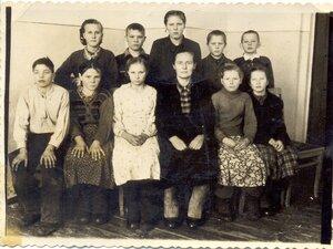 Рябчи, школа, 7-й класс, 1960г. Классный руководитель - Карпова Прасковья Фёдоровна