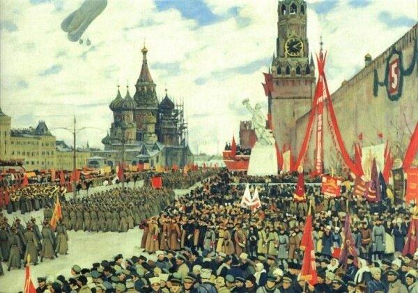 Константин Юон Парад Красной Армии 1923.