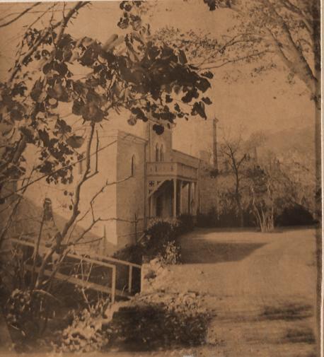 Вид части дома в имении
