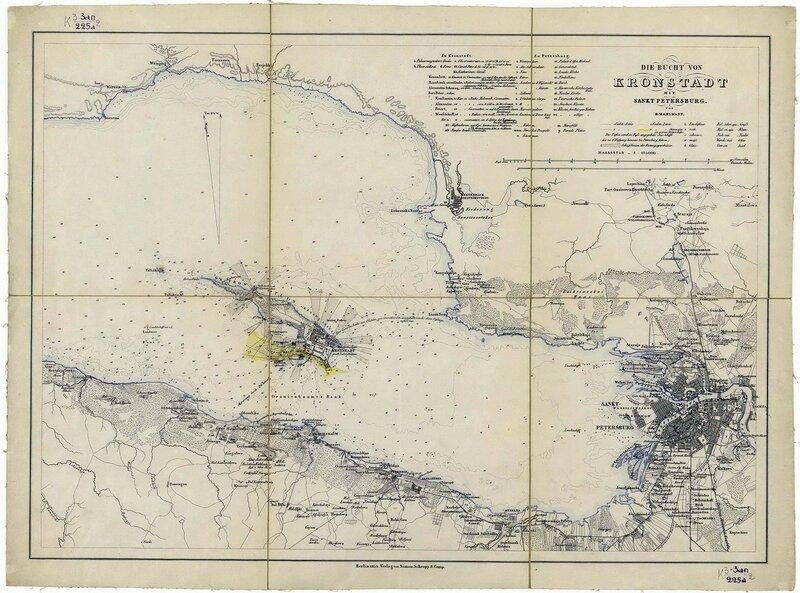 Кронштадтский залив. 1854 год.