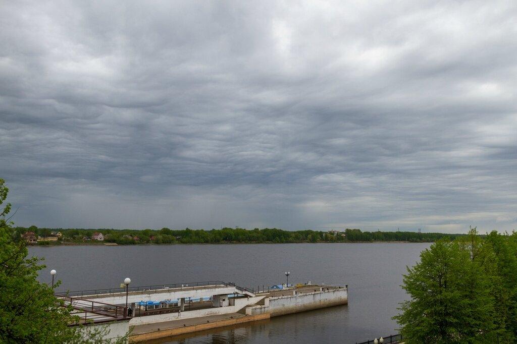 Волга, небо, Ярославль