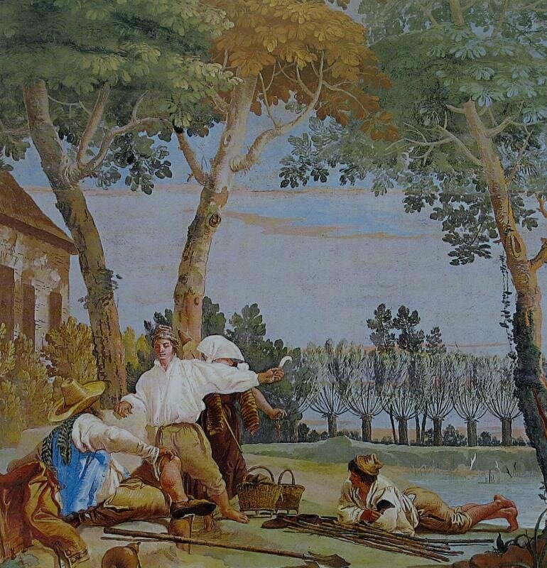 Отдых крестьян