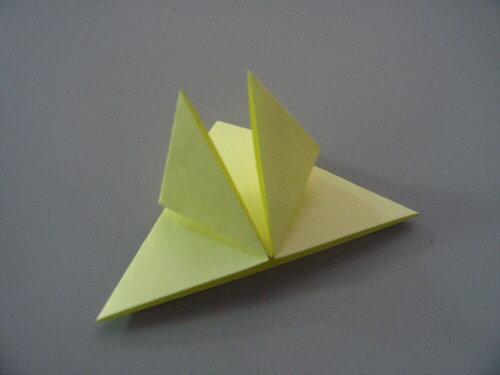 Оригами. Схема тюльпана из