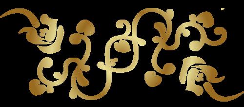 Золотые узоры для блога