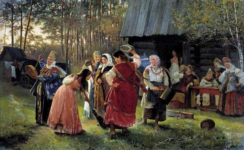 Корзухин Алексей Иванович. Девичник. 1889