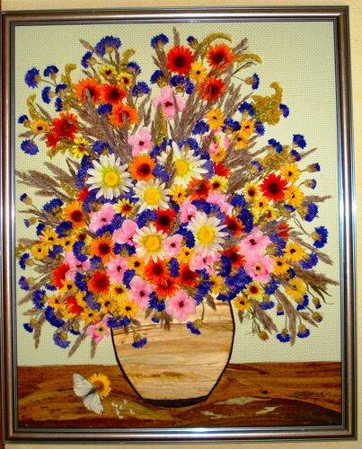 Из сухих цветков своими руками