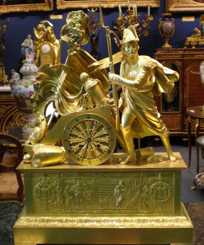"Каминные часы ""Евгений Богарне""  Франция, 1820-е."