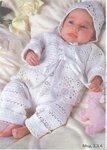 Вязание кофточки, комбинезона и шапочки для младенца На 0/2-4/8 месяцев,рост 56-70 см. Размеры готового изделия...
