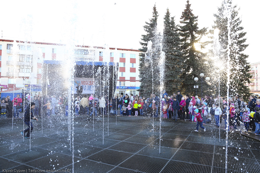 Открытие фонтана в Твери