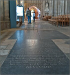 Jane Austen's Tomb Stone in Winchester Cathedral