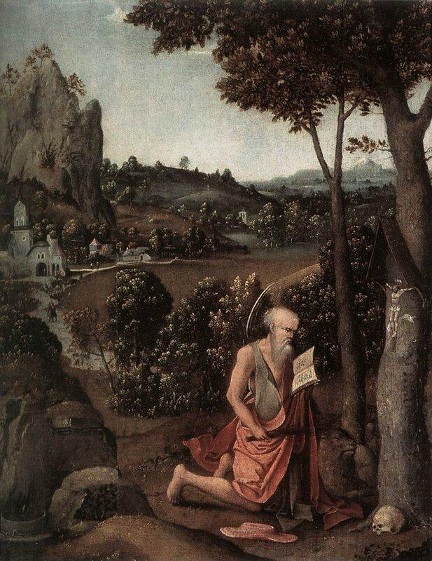 Патинир Иоахим, Пейзаж со святым Иеронимом