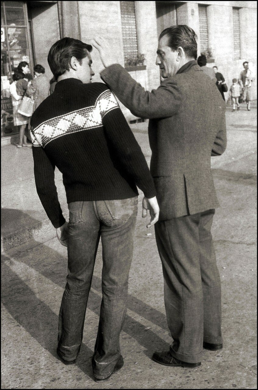 1960. С Лукино Висконти на съемках фильма «Рокко и его братья»