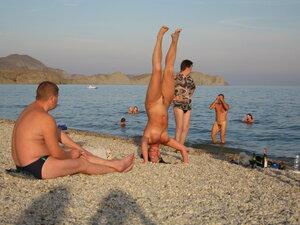Секс на пляже евпатории