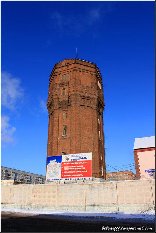 Водонапорные башни с пожарным водозабором