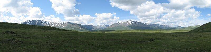 Панорамный вид с перевала Орой на плато Ештык-Коль