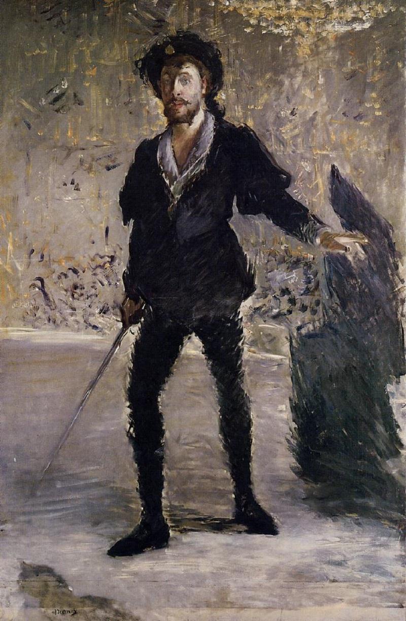 Эдуард Мане (1832–1883) (Франция) Portrait of Faure as Hamlet (c.1877).jpg