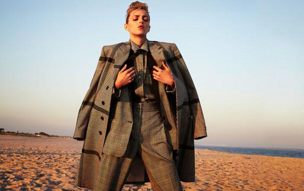 Аня Рубик (Anja Rubik) в журнале Flair