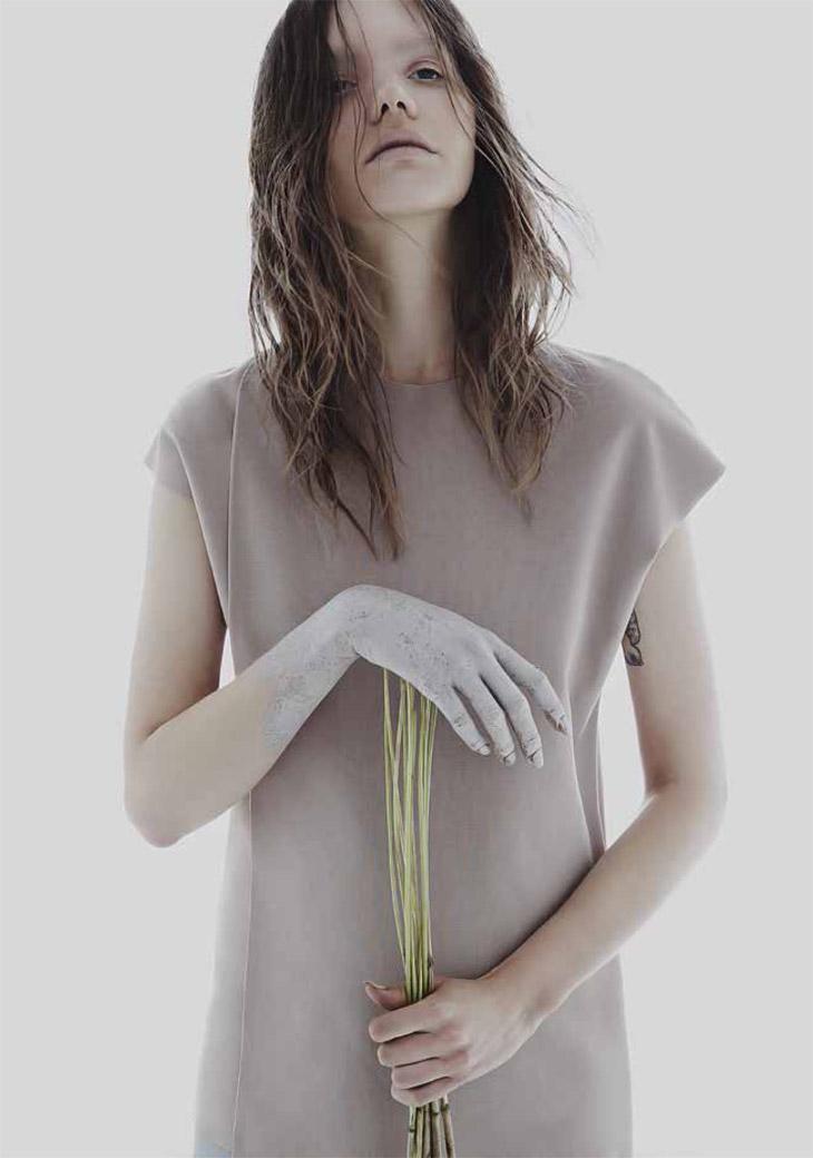 Софи Нильсон в журнале Blanc