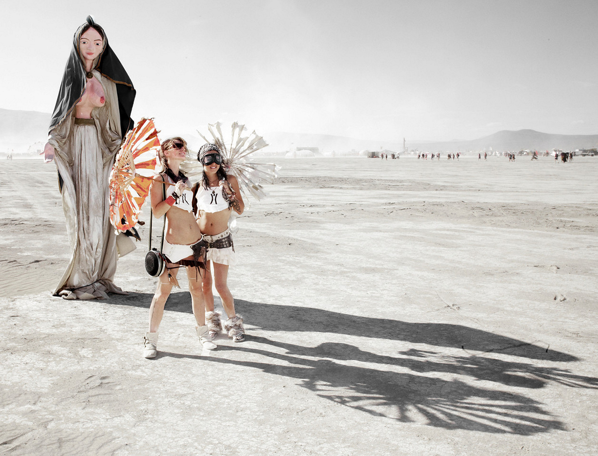 США. Невада. Пустыня Блэк-Рок. Во время фестиваля Burning Man 2014. (Christopher Michel)