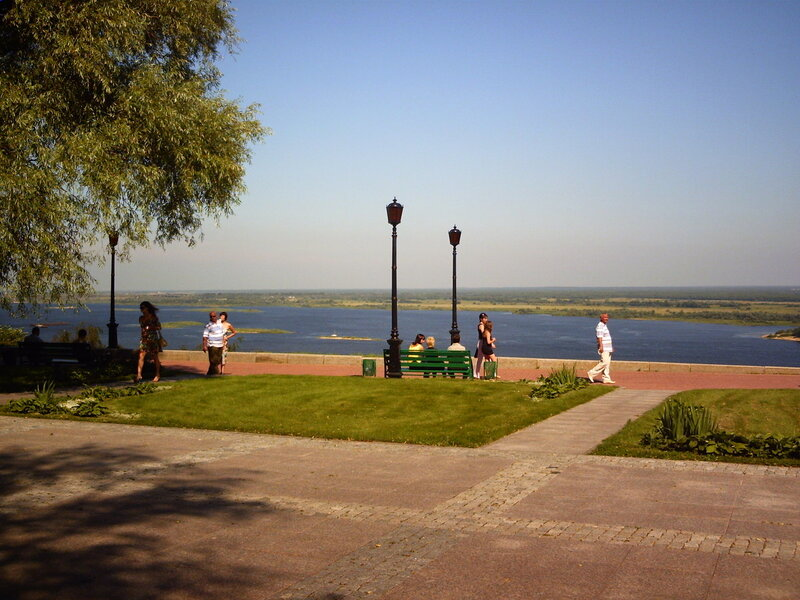 Нижегородский кремль. Вид на Волгу
