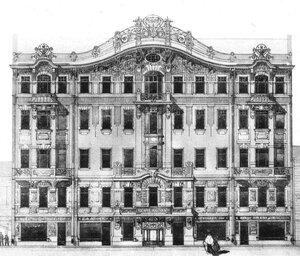 Пе�е�б��г До�одн�й дом И В �он Бе��е�а 1904 babs71
