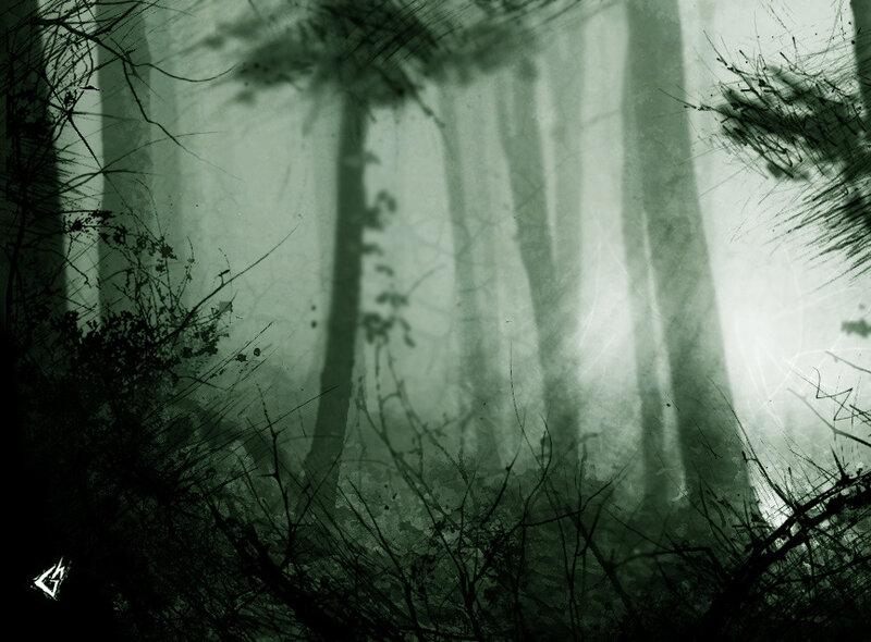 Художник Gavin Hargest - серия Dark Woods