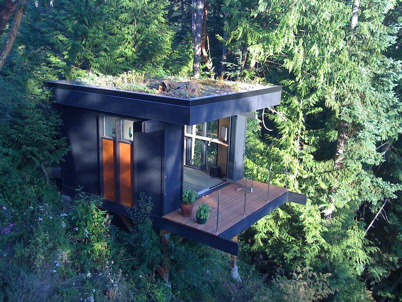 современный лесной домик