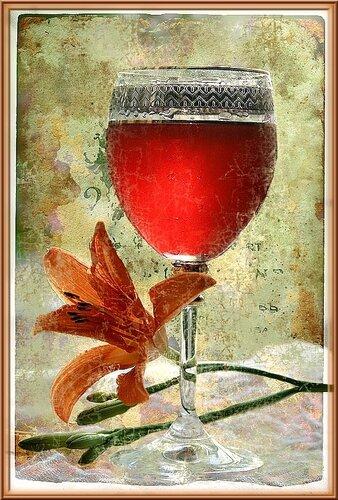 открытка анимация бокалы с вином лилия бокал.