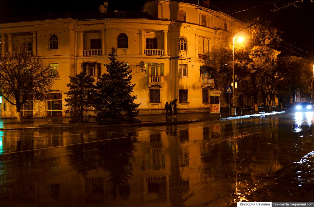 Севастополь ночной и дождливый