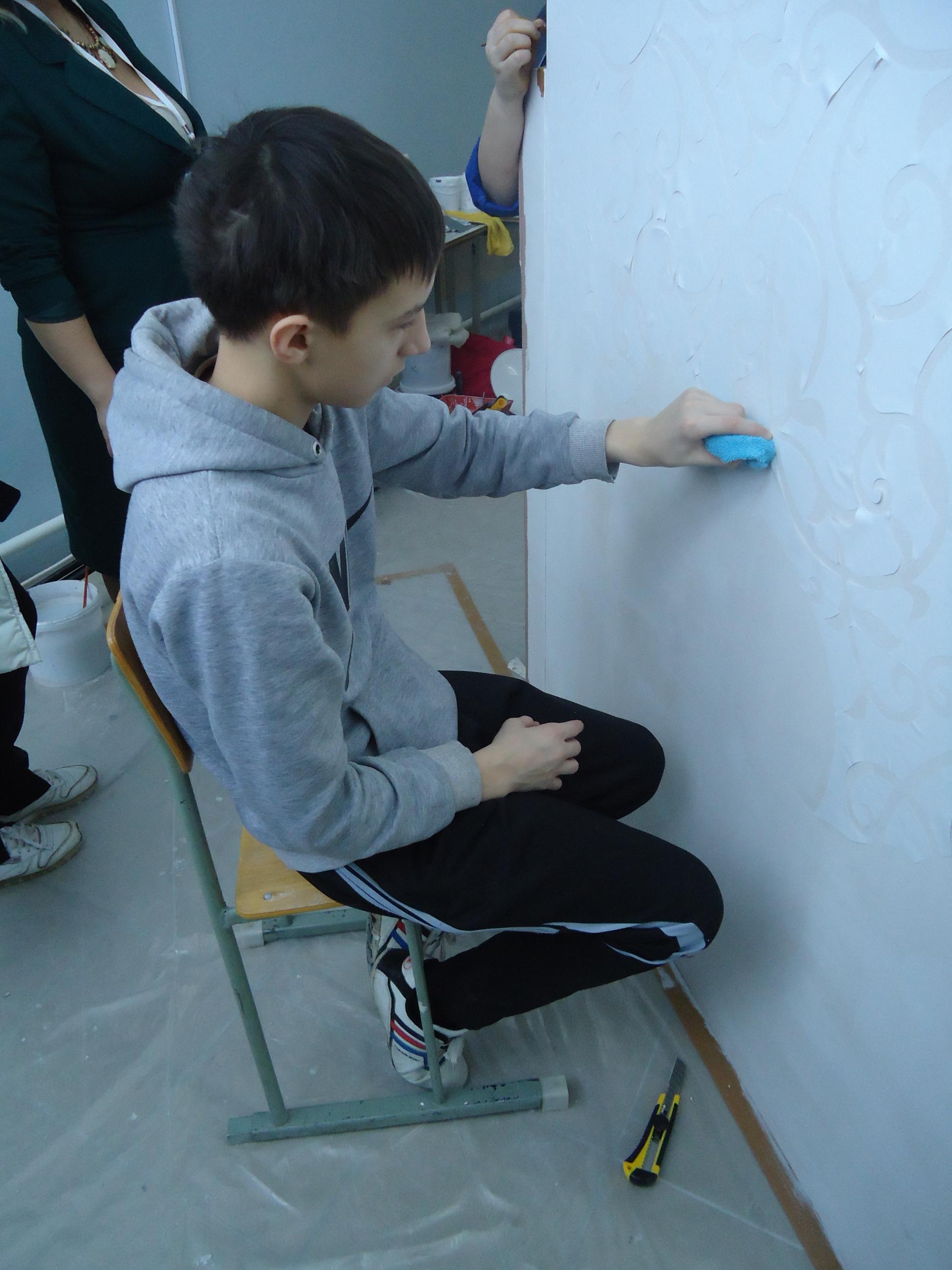 Помощники - волонтеры на чемпионате