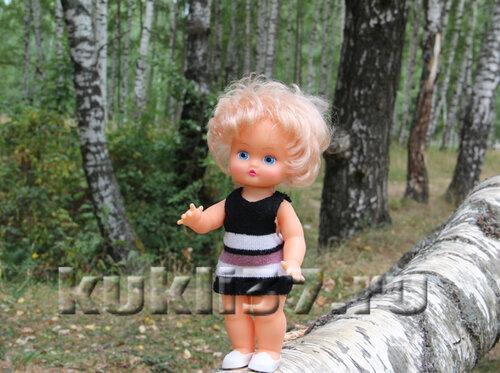 сарафан для куклы из носка