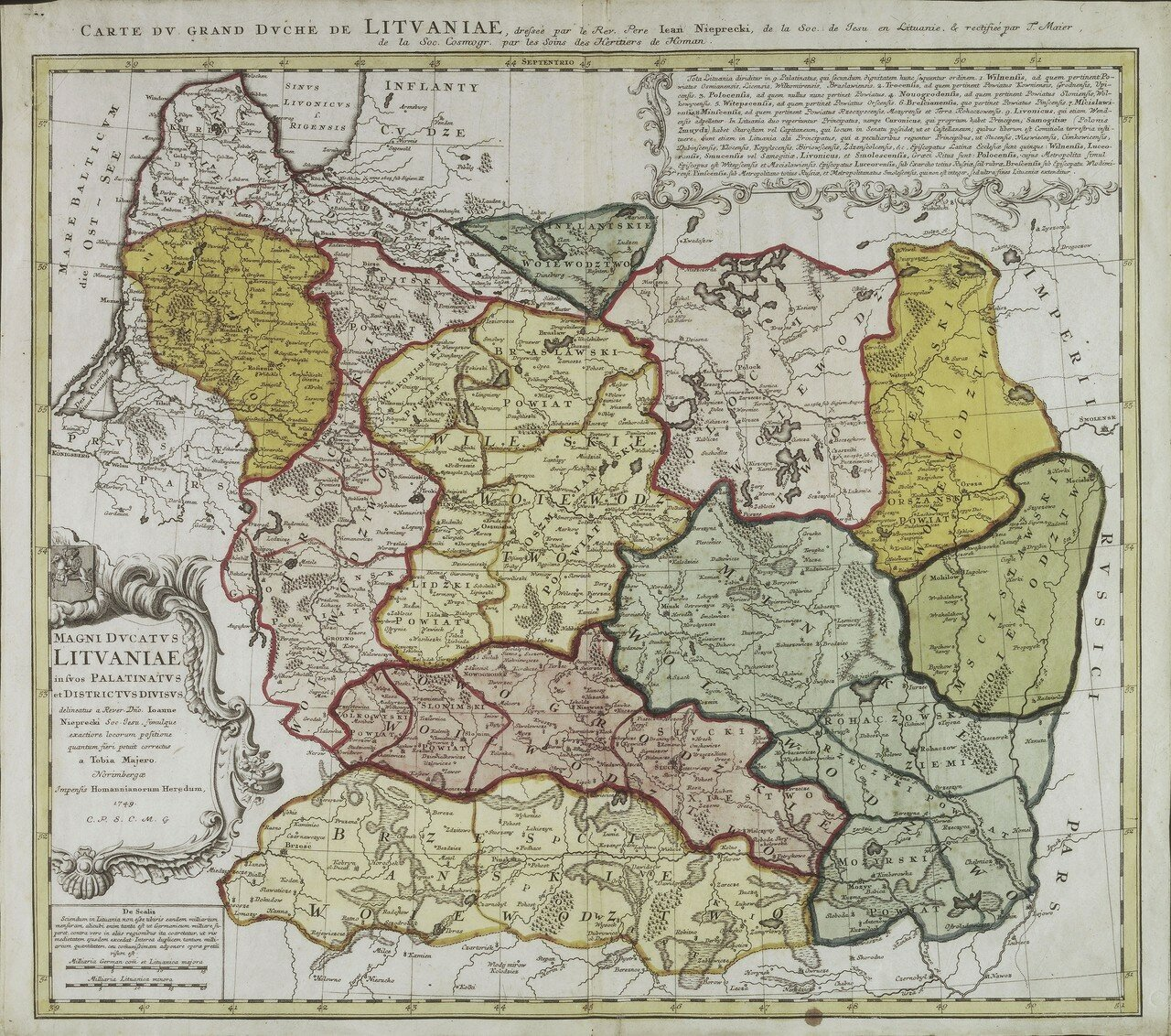 1749. Великое княжество Литовское