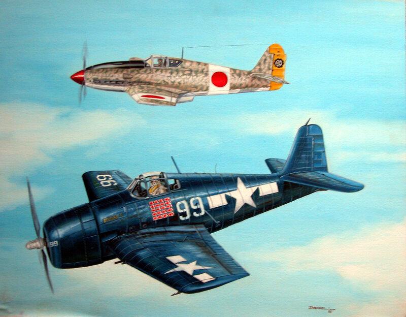 Aviation art of Lou Drendel.