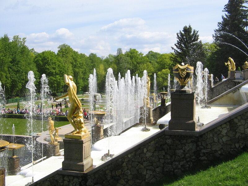 Большой каскад, фонтанный комплес, Петергоф