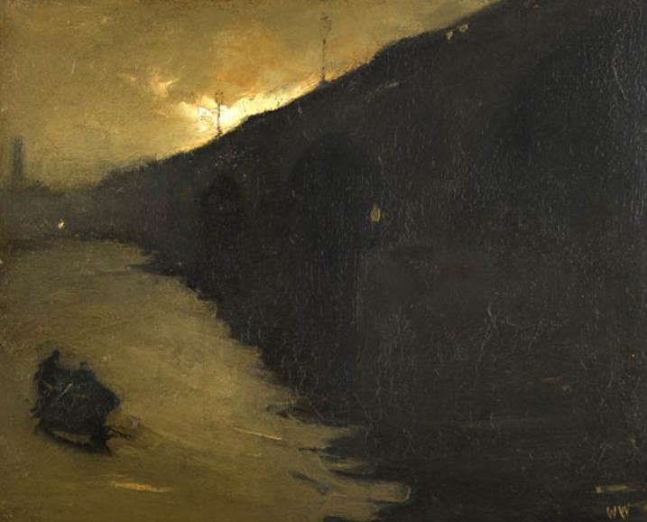 Виллем Витзен Ватерлоо Бридж, Лондон 1890 Перевозки на мосту Ватерлоо, Лондон