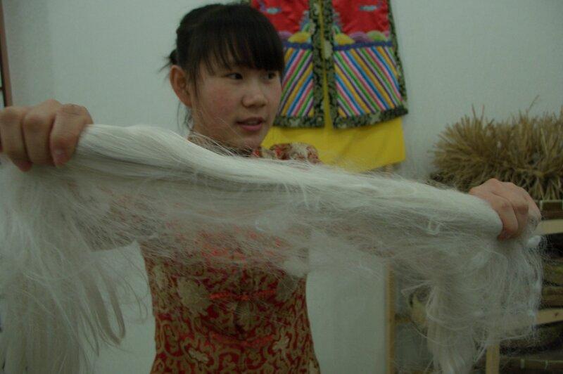 Шелковые нити, производство шелка, китайский шелк