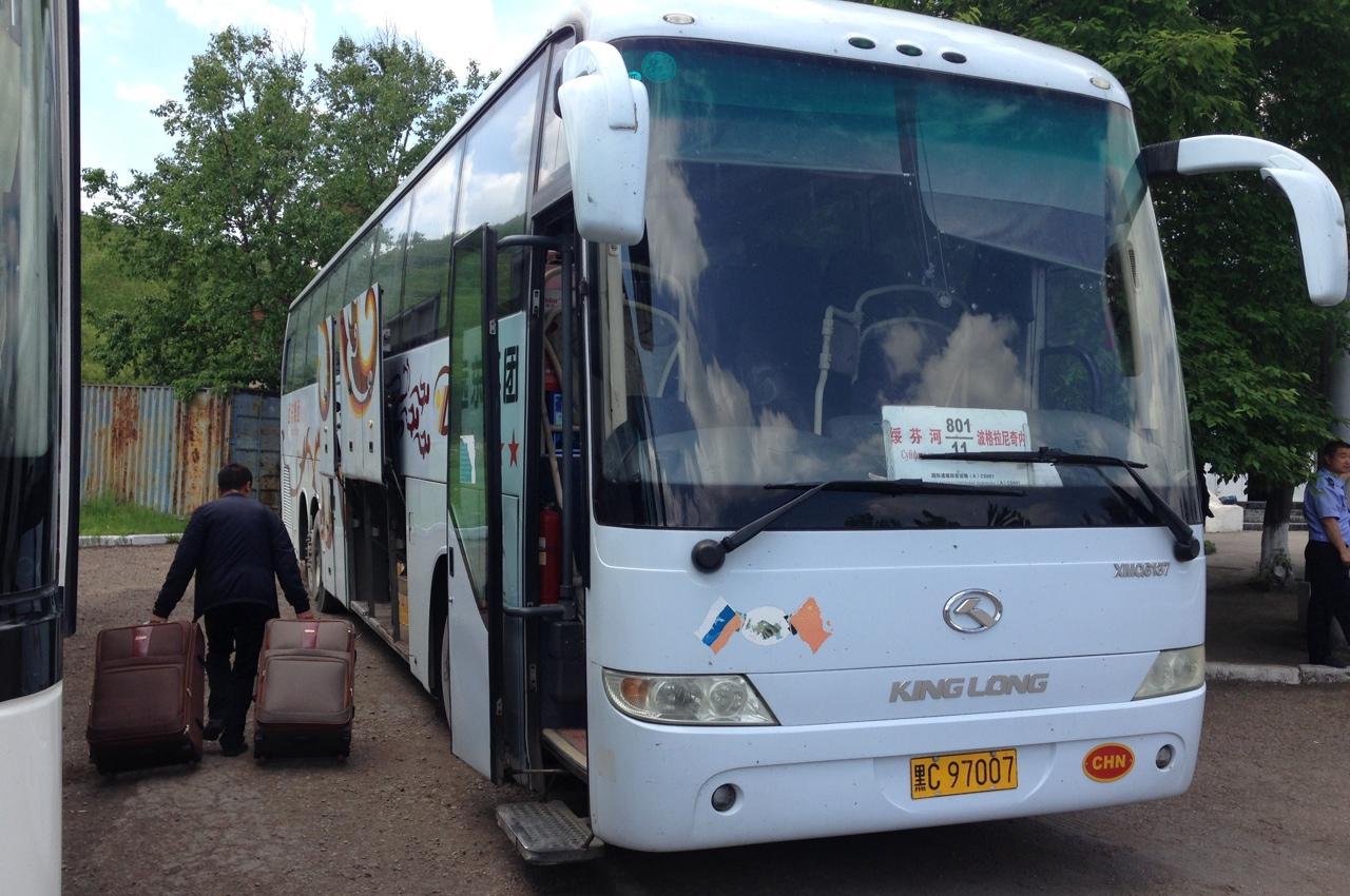 Очередная погрузка автобуса