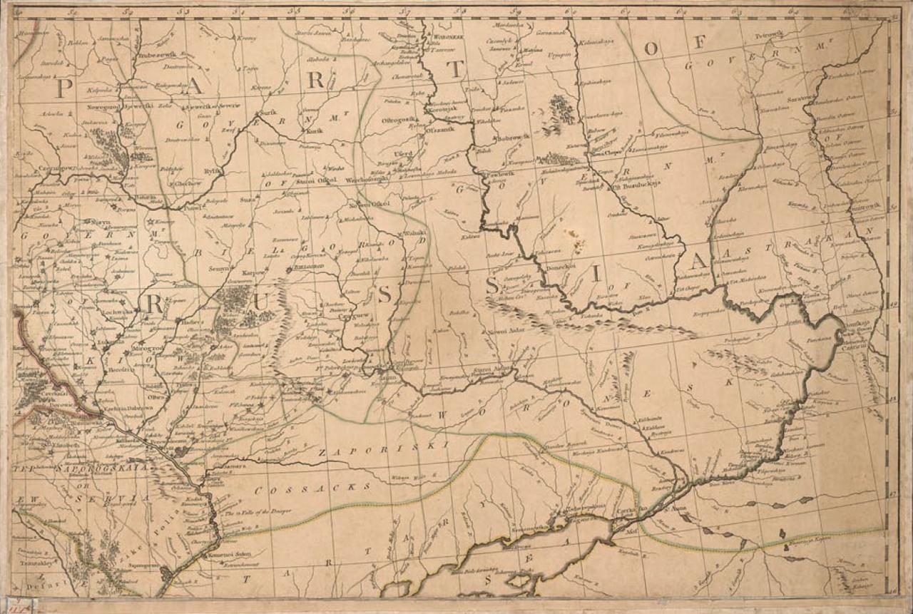 1783. Карта Российской империи. Часть 1