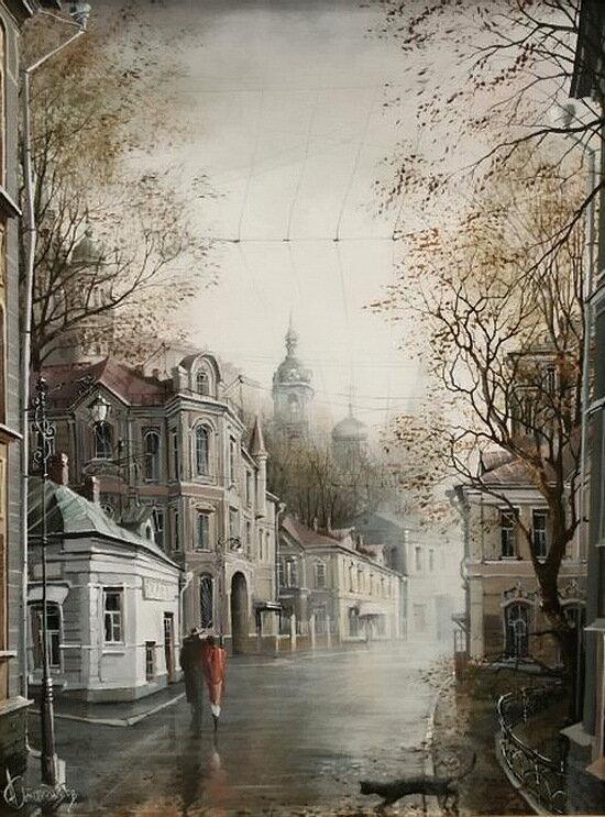 Художник Александр Стародубов - Старая Москва