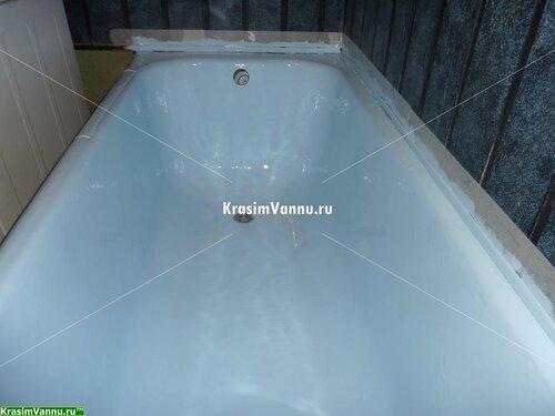 Реставрация ванн г. Москва, 3й просп. Новогиреево - 12 после