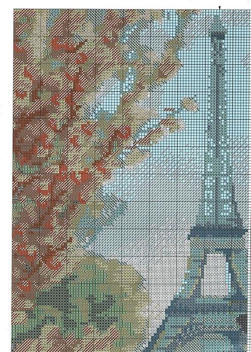 Вышивка крестом - Парижское