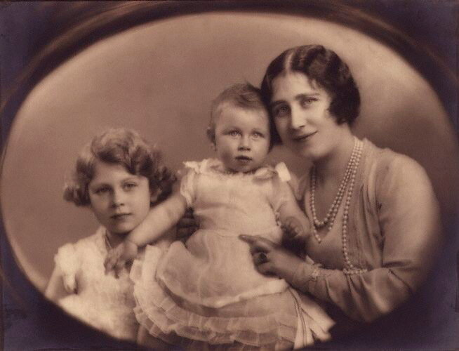 NPG P140(11), Queen Elizabeth II; Princess Margaret; Queen Elizabeth, the Queen Mother