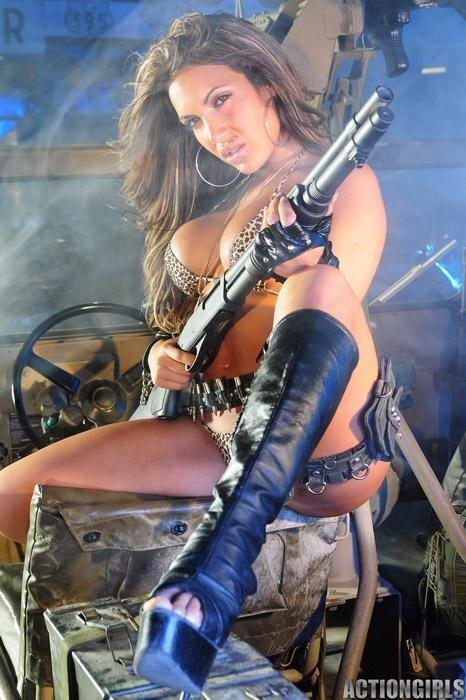 Девушки с оружием порно