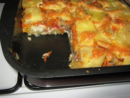 Рецепт рыба в духовке с картошкой и луком в духовке рецепт