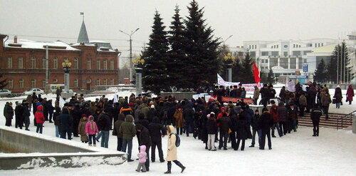 Оппозиция проводит митинг 31 января в центре Омска